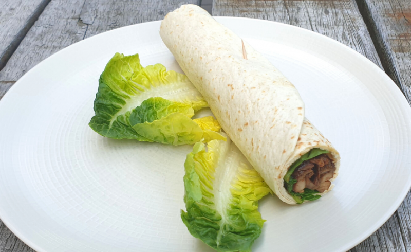 Wrap Asian Style Pulled Chicken