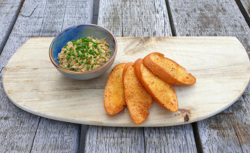 Rilette van Makreel met 4 Smaakvolle Crostini's