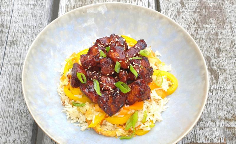 Oosterse kip met Fried Rice ~normale portie~