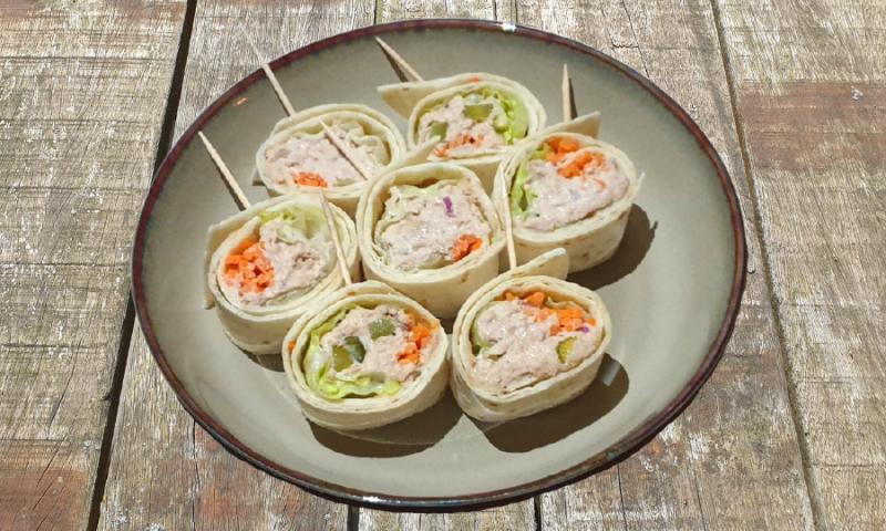 Tapas wrap tonijnsalade