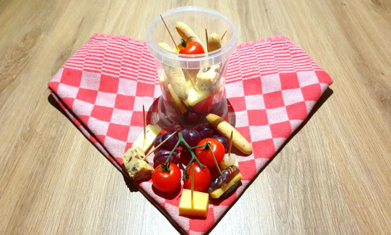 Jarcuterie met kaas en fruit